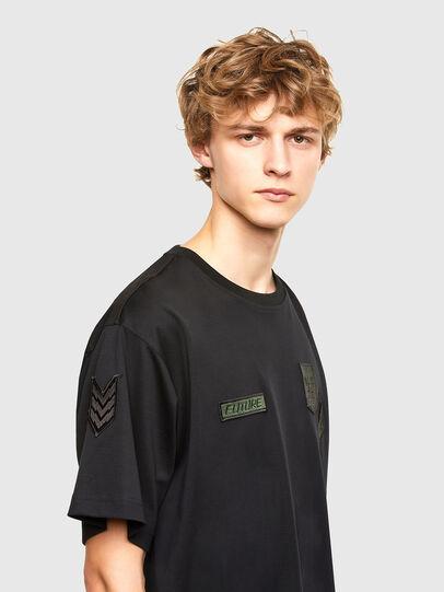 Diesel - T-CROLF, Schwarz - T-Shirts - Image 3