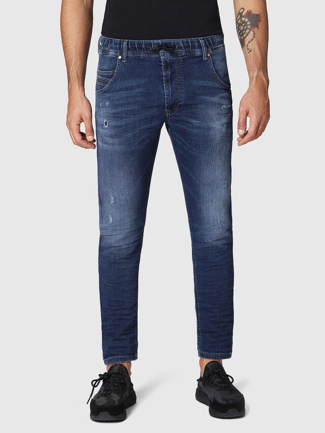 Diesel Krooley JoggJeans 0686W, Dunkelblau - Jeans - Image 1