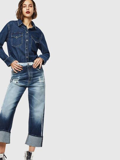Diesel - D-Reggy 0096S, Mittelblau - Jeans - Image 6