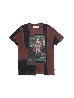 D-FRANK&STEIN, Burgunderrot - T-Shirts