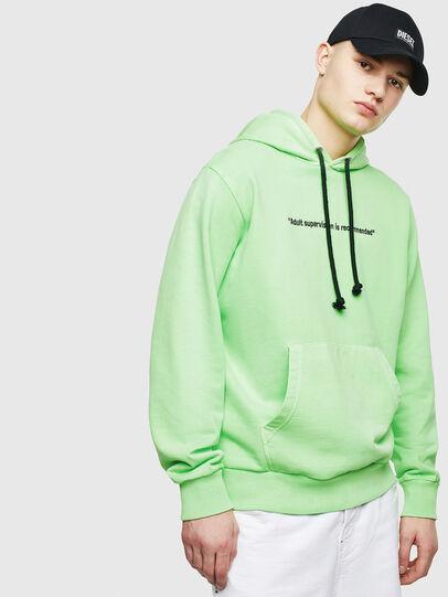 Diesel - S-GIRK-HOOD-FLUO, Neongrün - Sweatshirts - Image 1