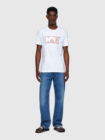 Diesel - T-DIEGOS-B8, Rot/Weiss - T-Shirts - Image 4