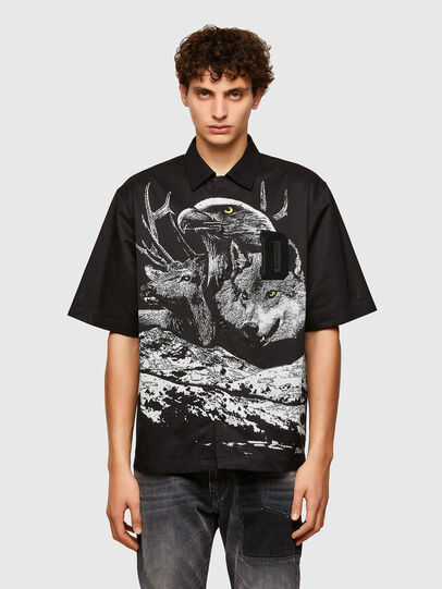 Diesel - S-WOLF, Noir - Chemises - Image 1
