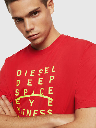 Diesel - T-JUST-J5, Rot - T-Shirts - Image 3