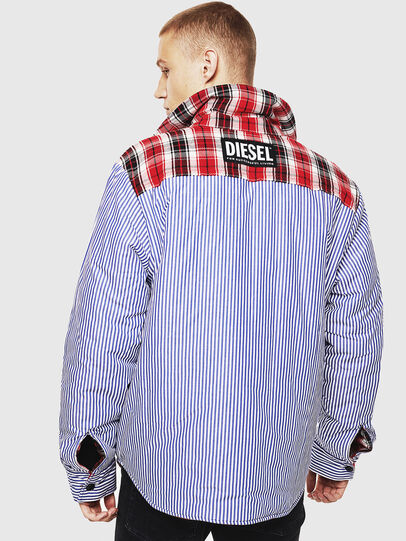 Diesel - S-JOHNS, Rot/Schwarz - Hemden - Image 4