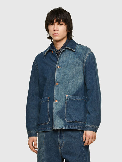 Diesel - D-ROLK-SP, Blue - Denim Jackets - Image 1