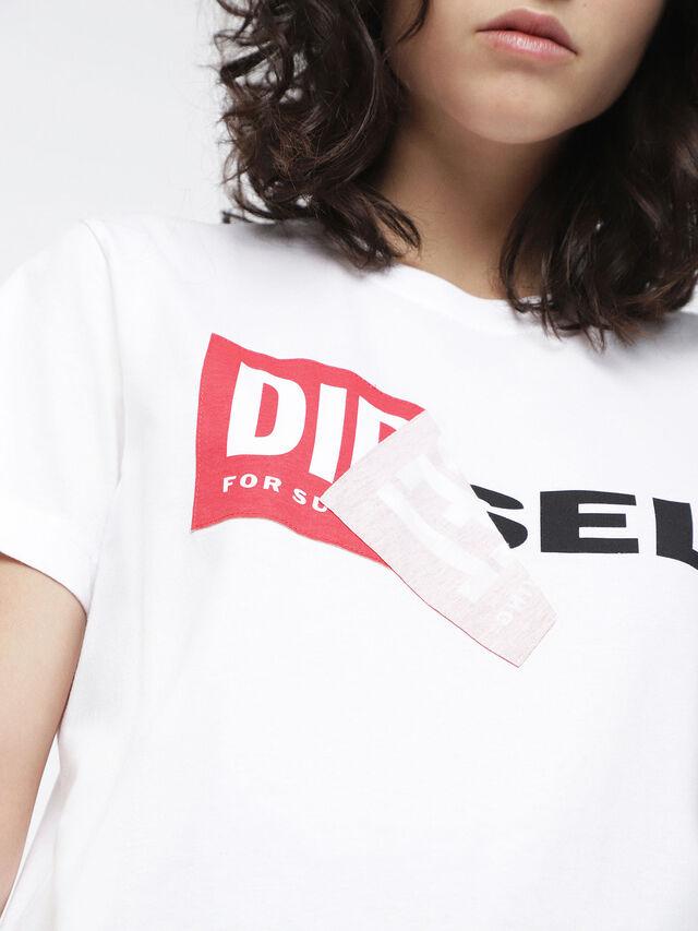 Diesel - T-DIEGO-QA-FL, Weiß - T-Shirts - Image 3