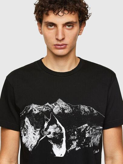 Diesel - T-DIEGOS-A7, Nero - T-Shirts - Image 3