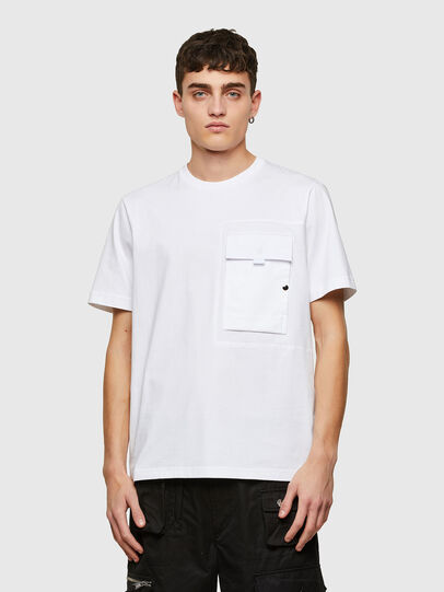 Diesel - T-WORKAN, Bianco - T-Shirts - Image 1