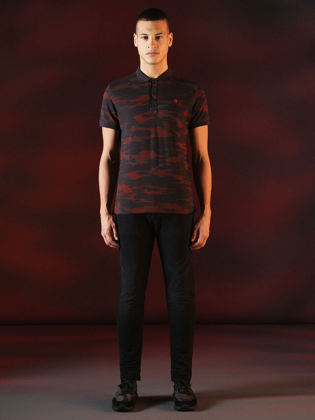 Diesel - DVL-POLO-SPECIAL COLLECTION, Rot/Schwarz - Polohemden - Image 4