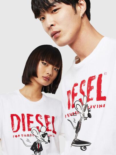 Diesel - CL-T-DIEGO-1, Weiß - T-Shirts - Image 4