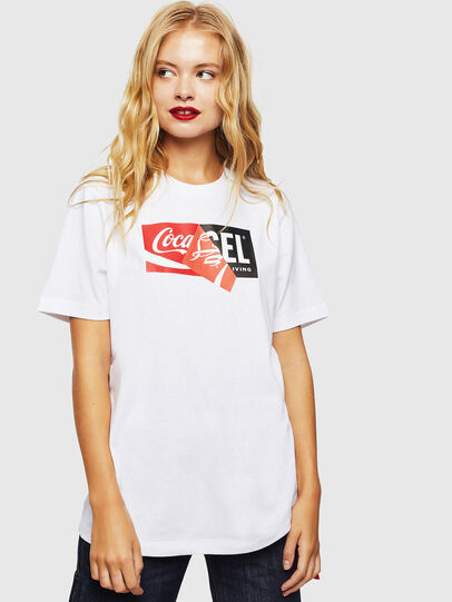 Diesel - CC-T-JUST-COLA, Weiß - T-Shirts - Image 2