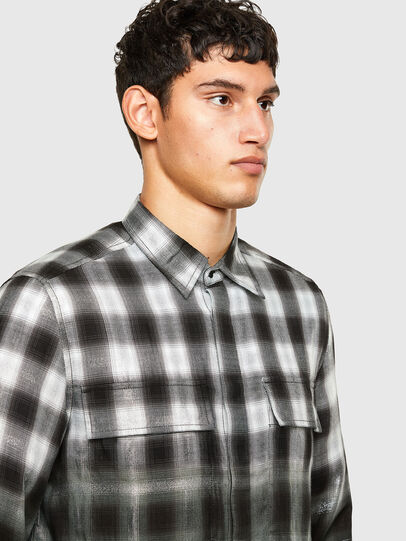 Diesel - S-KEITH, Nero/Bianco - Camicie - Image 3