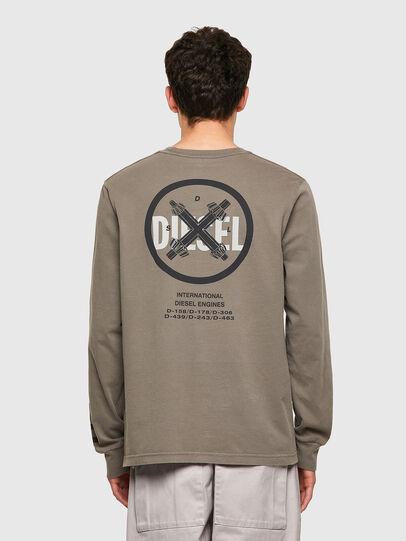 Diesel - T-JUBINDY-LS, Verde Oliva - T-Shirts - Image 2