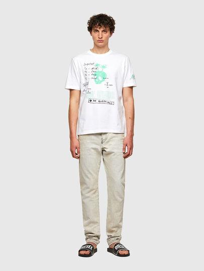 Diesel - T-JUST-B61, Bianco - T-Shirts - Image 7