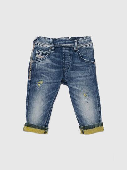 Diesel - KROOLEY JOGGJEANS-B-N, Blau/Gelb - Jeans - Image 1