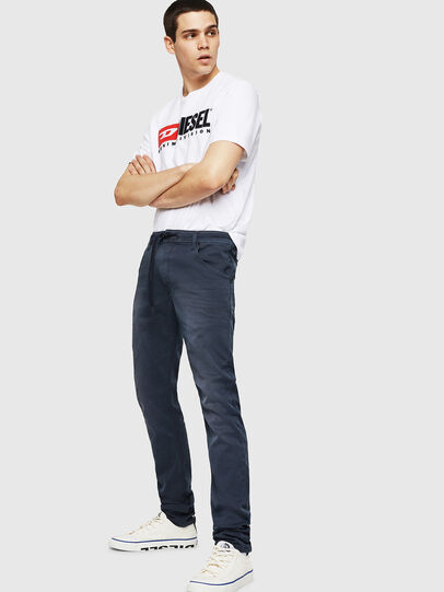 Diesel - Krooley Long JoggJeans 0670M, Dunkelblau - Jeans - Image 4