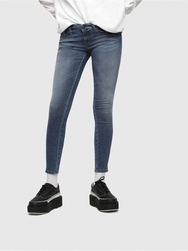 Diesel - Skinzee Low Zip 0681P, Mittelblau - Jeans - Image 1