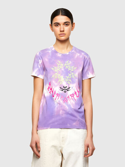 Diesel - T-SILY-A12, Lilas - T-Shirts - Image 1