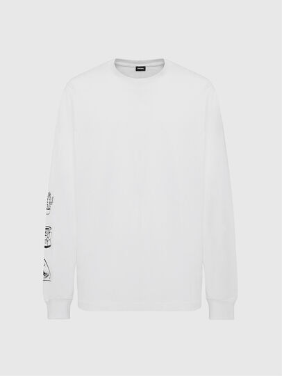 Diesel - T-JUST-LS-X90, Weiß - T-Shirts - Image 1