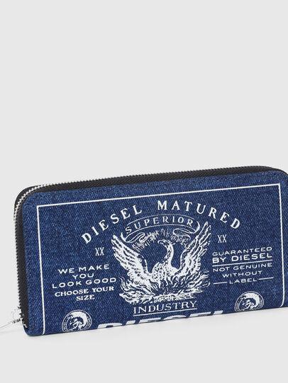 Diesel - 24 ZIP, Blue - Zip-Round Wallets - Image 4