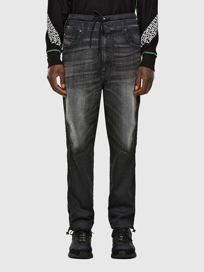 Diesel - D-Skint JoggJeans® 069PC, Schwarz/Dunkelgrau - Jeans - Image 1