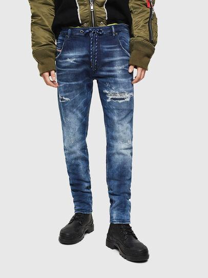 Diesel - Krooley JoggJeans 0097N, Dunkelblau - Jeans - Image 1