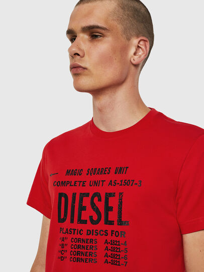 Diesel - T-DIEGO-B6, Feuerrot - T-Shirts - Image 3