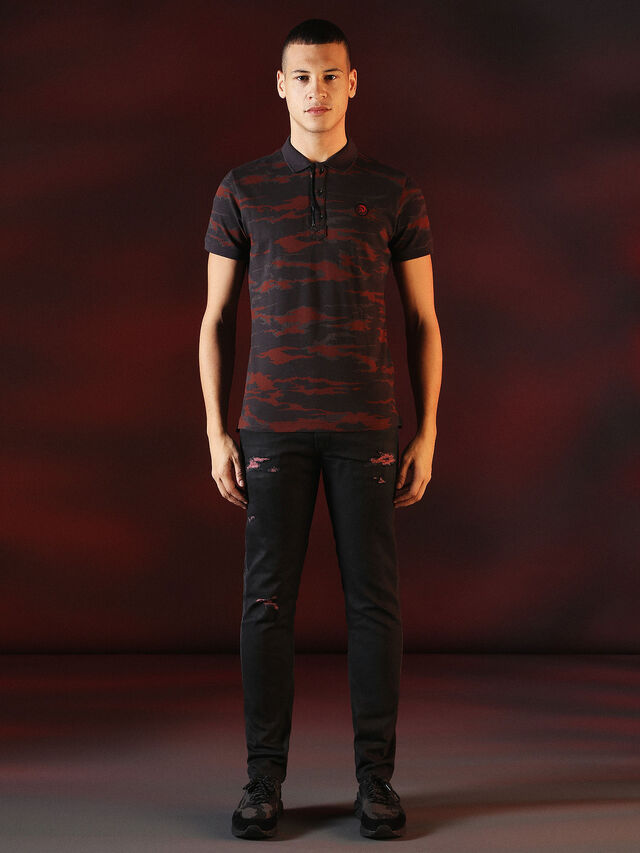 Diesel - DVL-POLO-SPECIAL COLLECTION, Rot/Schwarz - Polohemden - Image 5
