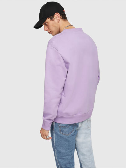 Diesel - S-CREW-DIVISION, Lila - Sweatshirts - Image 2