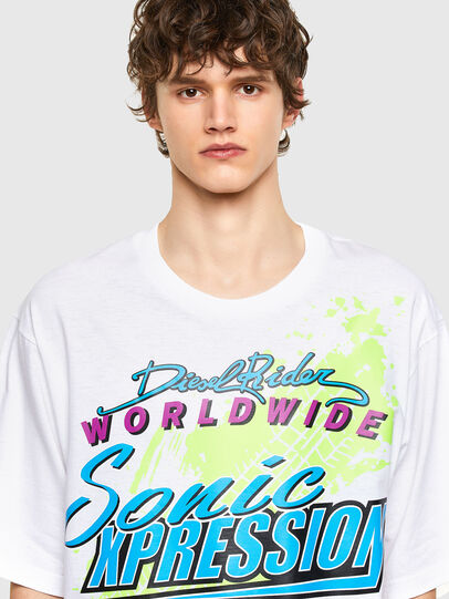 Diesel - T-DELPHONE, Bianco - T-Shirts - Image 3
