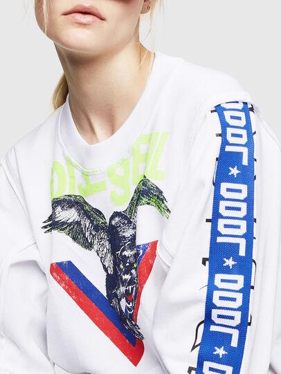 Diesel - F-LYANYDY, Weiß - Sweatshirts - Image 3