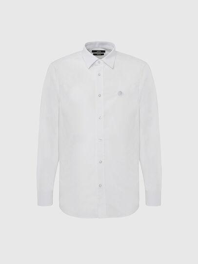 Diesel - S-BILL, Weiß - Hemden - Image 1