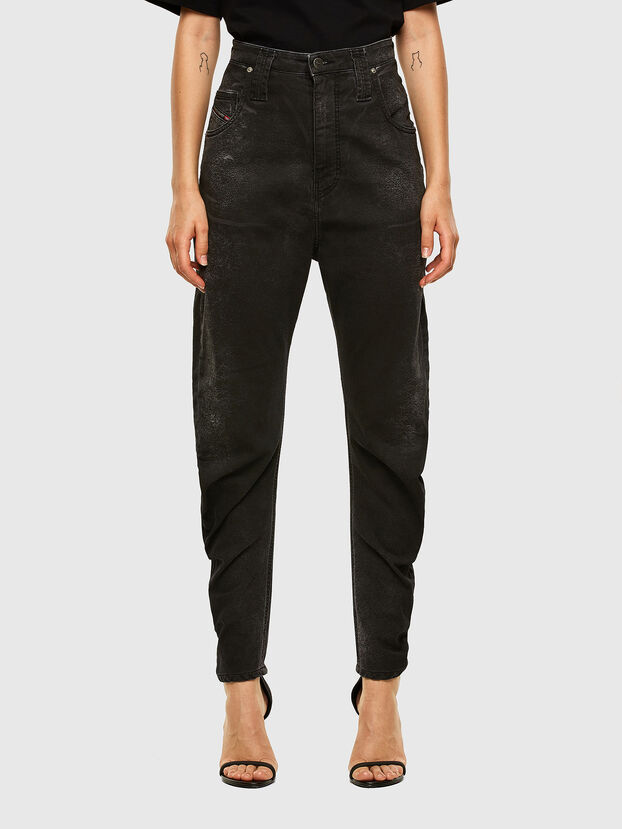 D-Plata JoggJeans 009DS, Schwarz/Dunkelgrau - Jeans