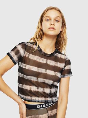 UFTEE-ROUNDFEM-M, Schwarz/Weiß - T-Shirts