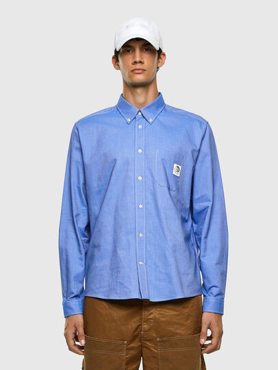 Diesel - S-JAMES, Bleu - Chemises - Image 4