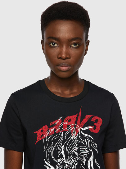 Diesel - T-SILY-B2, Noir - T-Shirts - Image 3