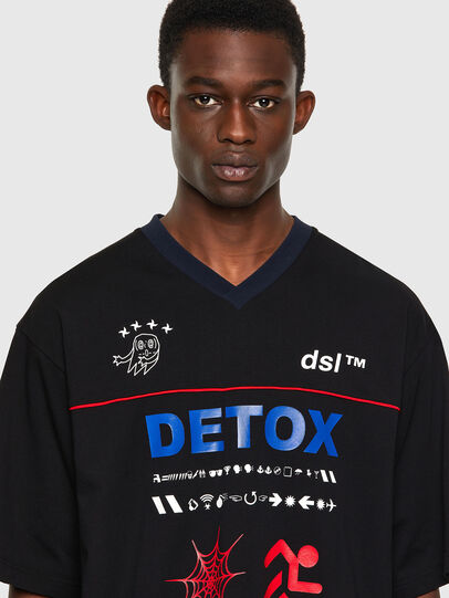 Diesel - T-DELPHIVY-SLITS, Nero - T-Shirts - Image 3