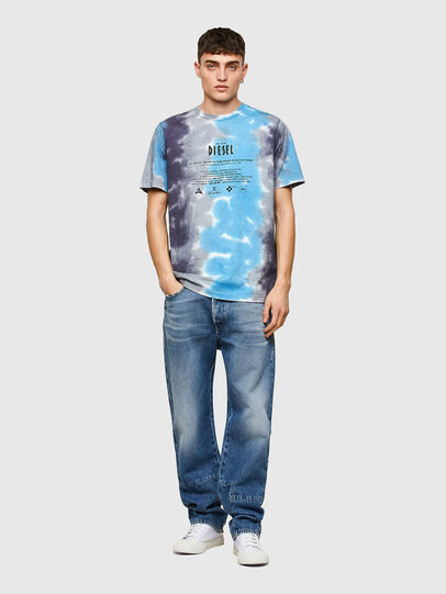 Diesel - T-JUST-E13, Gris/Bleu - T-Shirts - Image 4