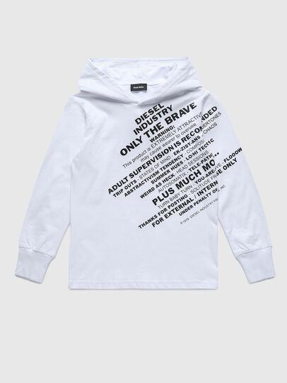 Diesel - TDIEGOHOODS3 ML, Blanc - T-shirts et Hauts - Image 1