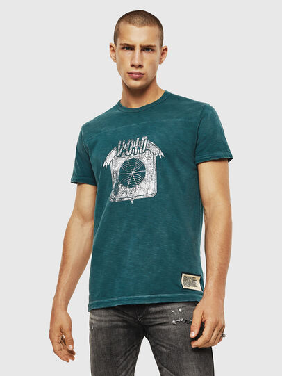 Diesel - T-DIEGO-CUT-AC, Marineblau - T-Shirts - Image 1