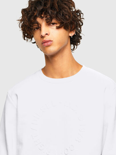Diesel - S-GIRK-A70, Blanc - Pull Cotton - Image 3