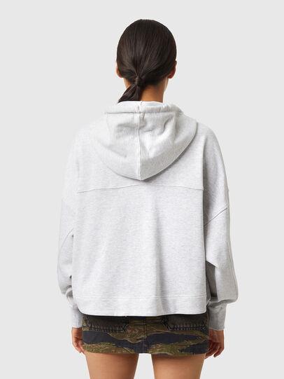 Diesel - F-CROPPY-ZIP, Light Grey - Sweaters - Image 2