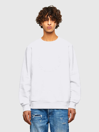 Diesel - S-GIRK-A70, Blanc - Pull Cotton - Image 1