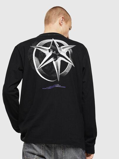 Diesel - T-JUST-LS-VINT, Schwarz/Weiß - T-Shirts - Image 2