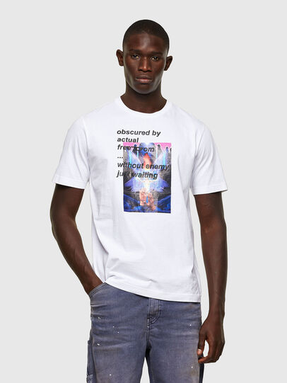 Diesel - T-JUST-A43, Bianco - T-Shirts - Image 1