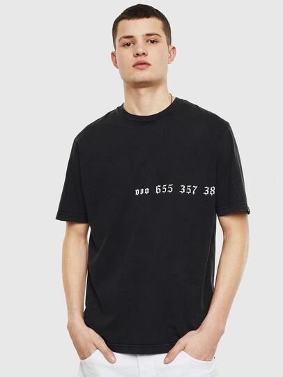 Diesel - T-JUST-T12, Schwarz - T-Shirts - Image 1