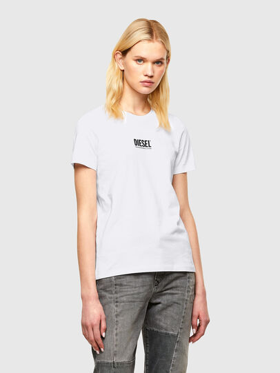 Diesel - T-SILY-SMALLOGO, Blanc - T-Shirts - Image 1