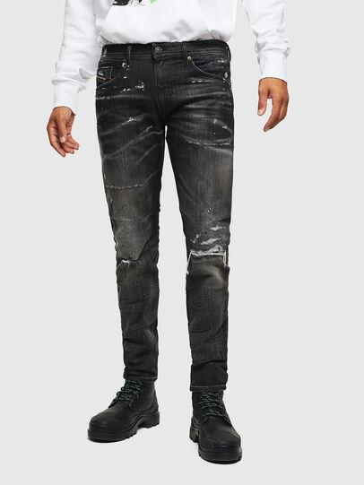 Diesel - Thommer JoggJeans 0098E, Schwarz/Dunkelgrau - Jeans - Image 1