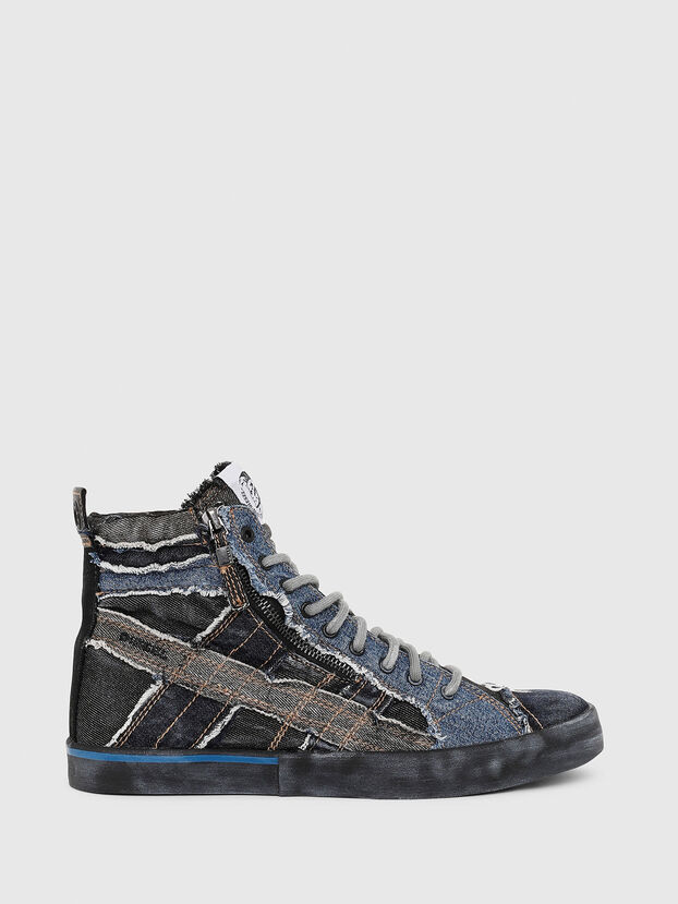 D-VELOWS MID LACE, Schwarz/Blau - Sneakers